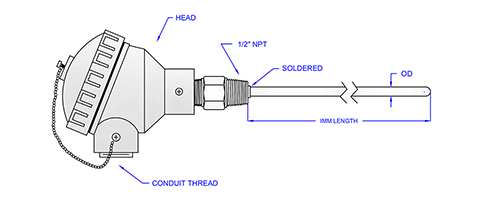 Semi-Industrial Thermocouple